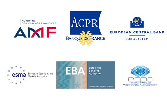 Logos des autorités de régulation financière